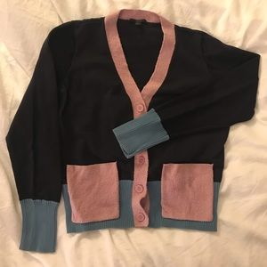 COS color block cardigan size s